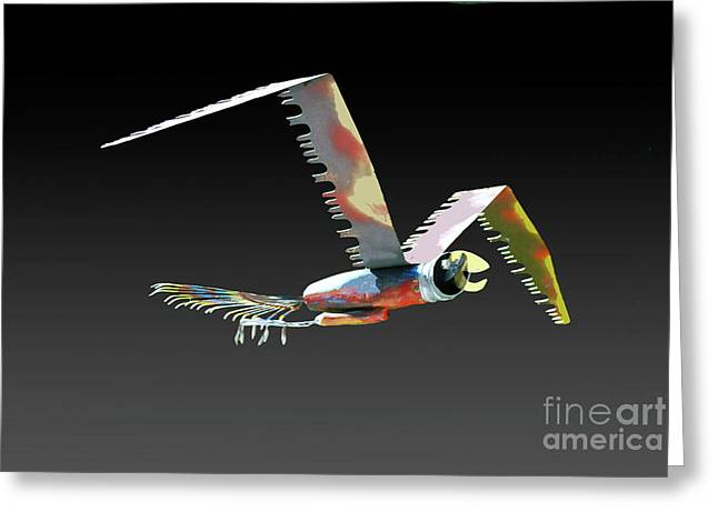 Saw Bird Greeting Card by Bill Thomson