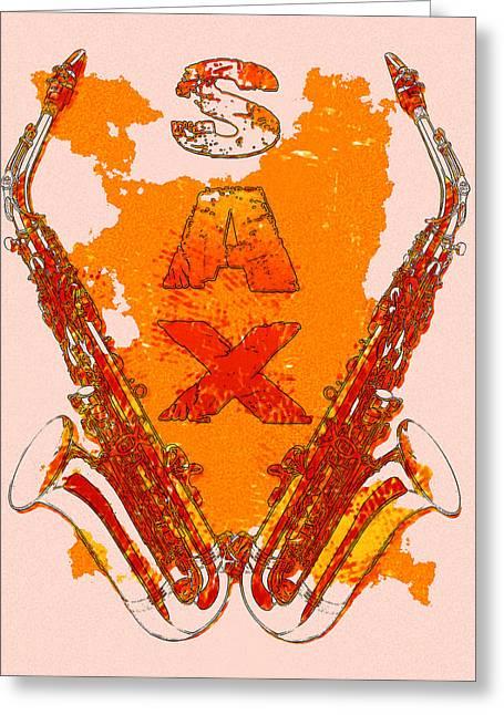 Sax Greeting Card by David G Paul