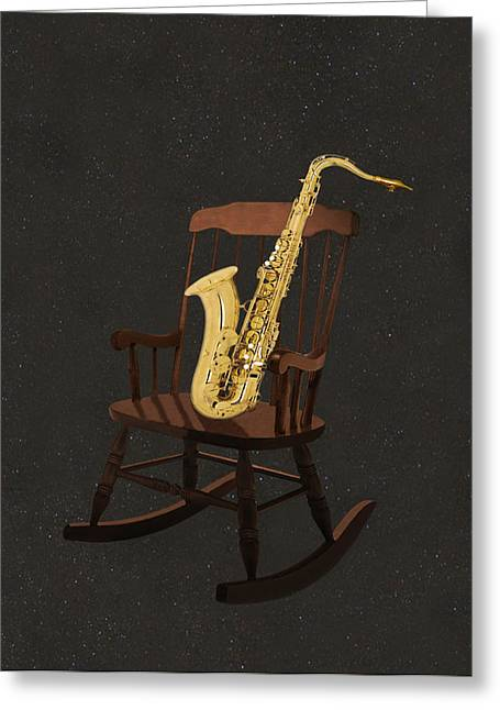 Sax Rocks Greeting Card