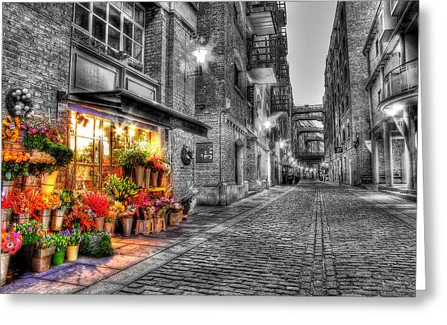 Say It With Flowers - Hdr Greeting Card by Colin J Williams Photography
