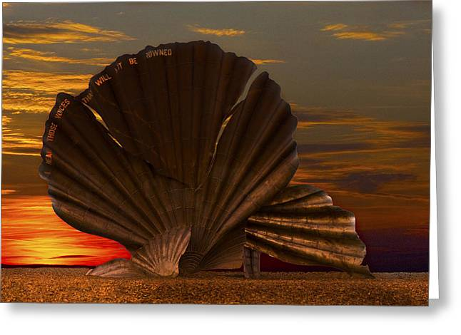 Scallop Sunrise At Aldeburgh Greeting Card