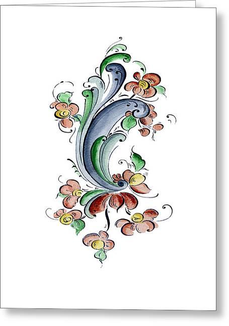 Scandinavian Flower I Greeting Card by Judy Dodds