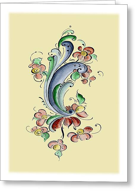 Scandinavian Flower II Greeting Card by Judy Dodds