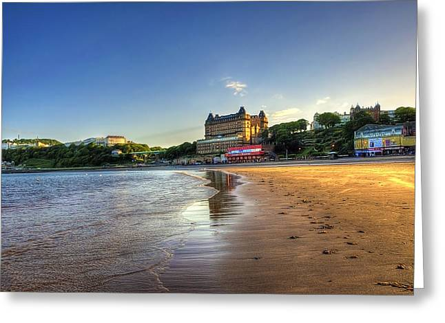 Scarborough Eve Greeting Card by Svetlana Sewell