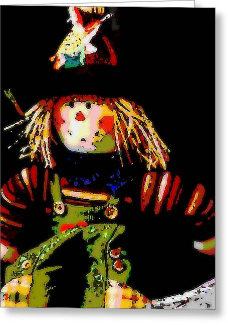 Scarecrow Greeting Card by David Alvarez