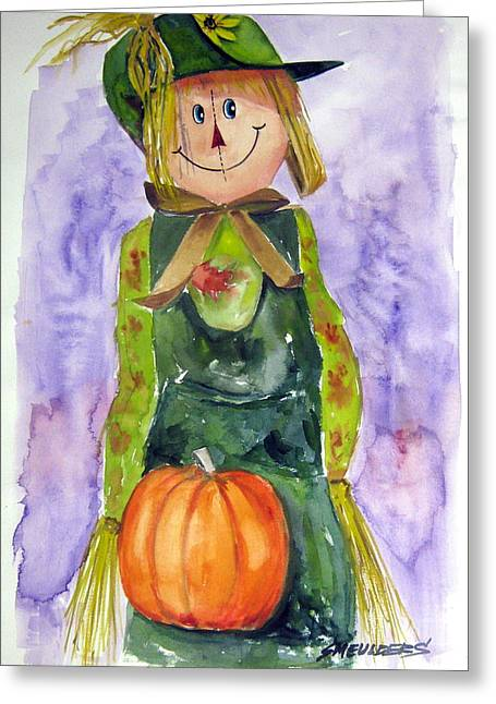 Scarecrow Greeting Card by John Smeulders