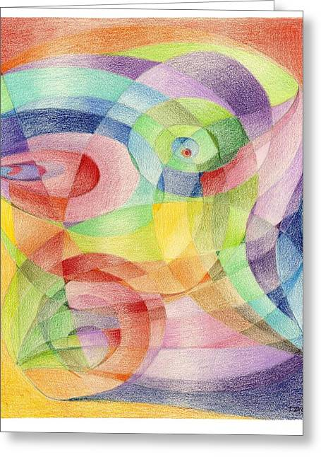 Scarf Pattern - Roses Greeting Card by Tatyana Zverinskaya