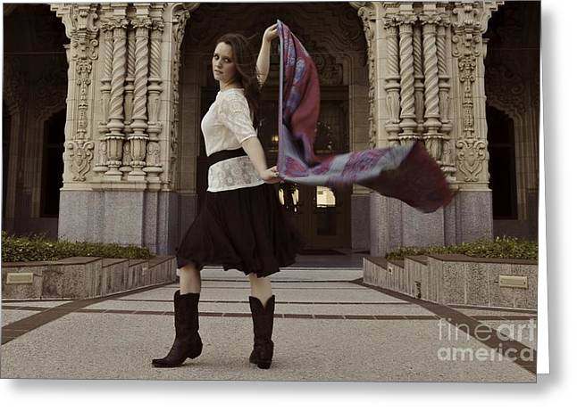 Greeting Card featuring the photograph Scarf Wrap by Sherry Davis