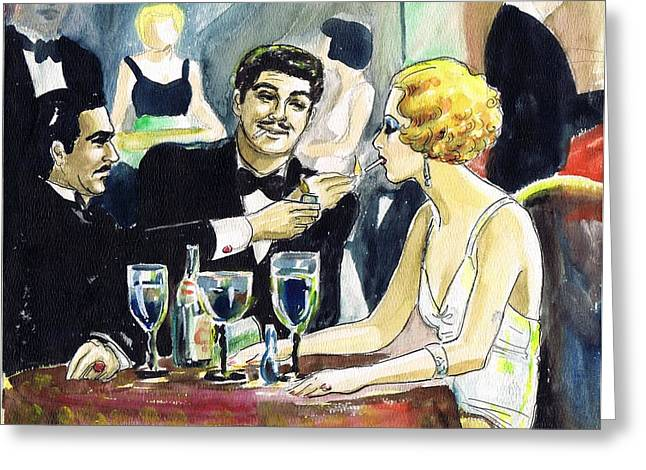 Scarface Greeting Card by Mel Thompson