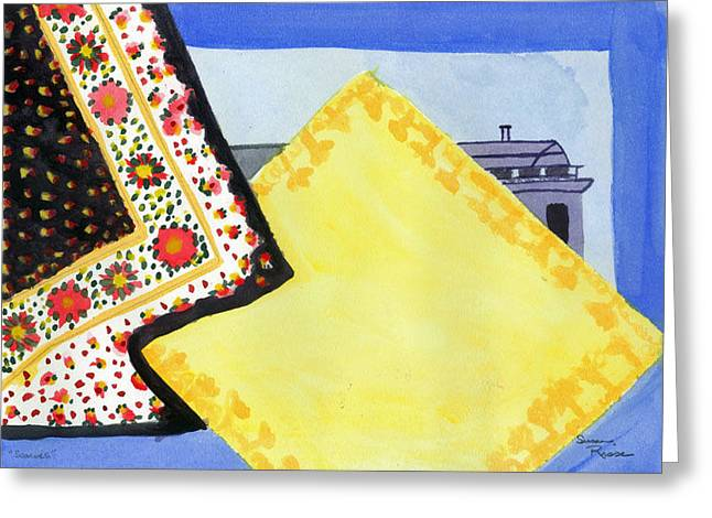 Scarves Greeting Card by Susan Risse
