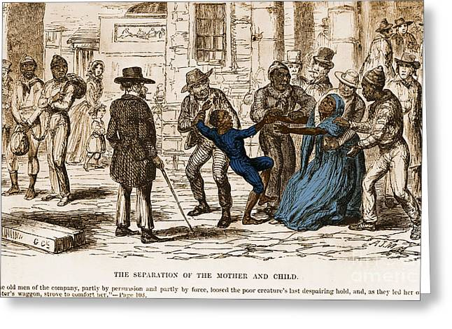 Scene From Uncle Toms Cabin Greeting Card by Photo Researchers