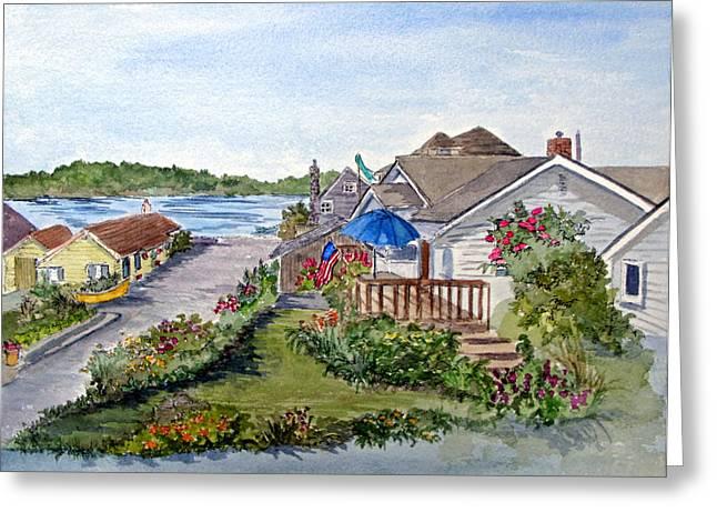 Scenic Avenue On Camano Island In Washington Greeting Card by Bonnie Sue Schwartz