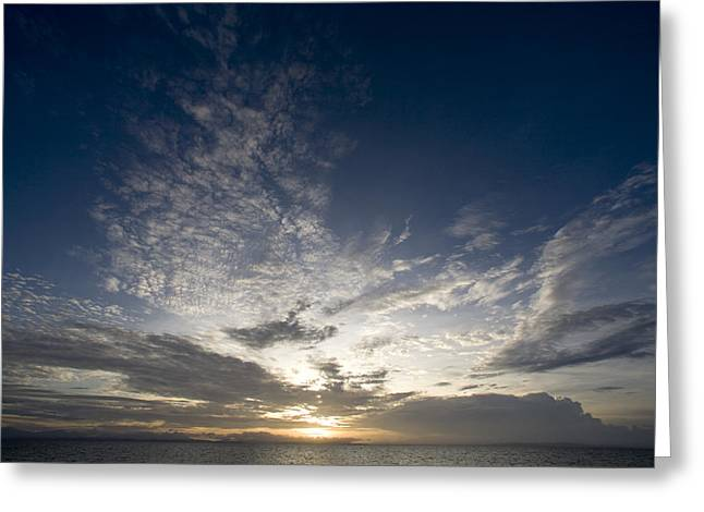 Scenic Sunset Over Malapascua Island Greeting Card