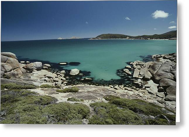 Scenic View Of A Bay At Wilsons Greeting Card