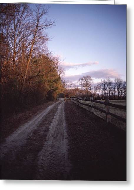 Scenic View Of A Dirt Road Greeting Card by Sam Abell