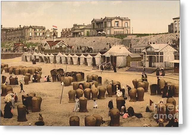 Scheveningen Beach And Hotels Greeting Card by Padre Art