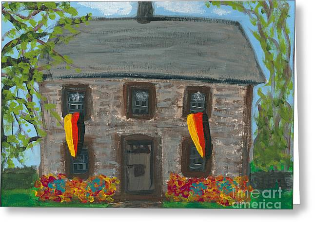 Schifferstadt Architectural Museum II Greeting Card by Ania M Milo