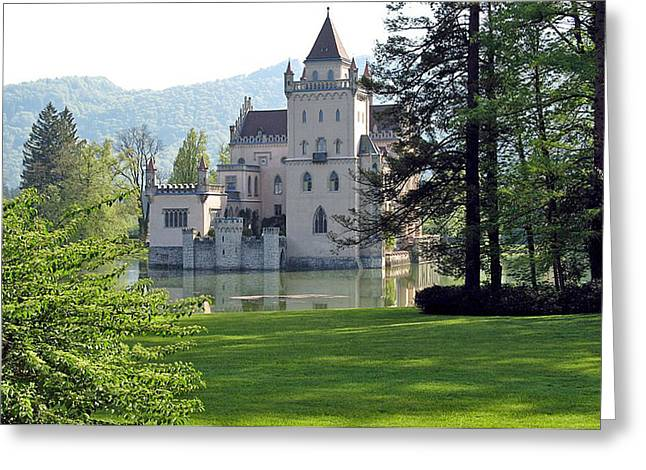 Schloss Anif Greeting Card by Joseph Hendrix