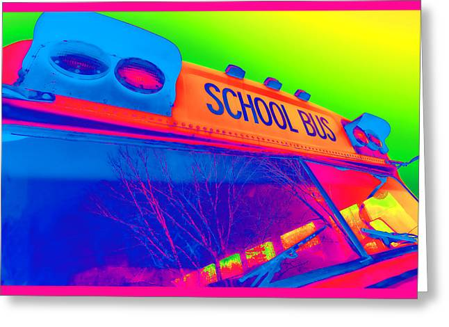 School Bus Greeting Card by Gordon Dean II