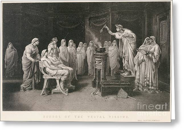 School Of Vestal Virgins Greeting Card by Granger