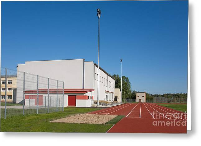 School Running Track Greeting Card by Jaak Nilson