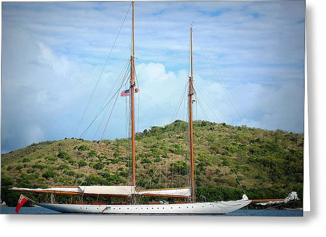 Schooner Elena Greeting Card by Sheila Harnett