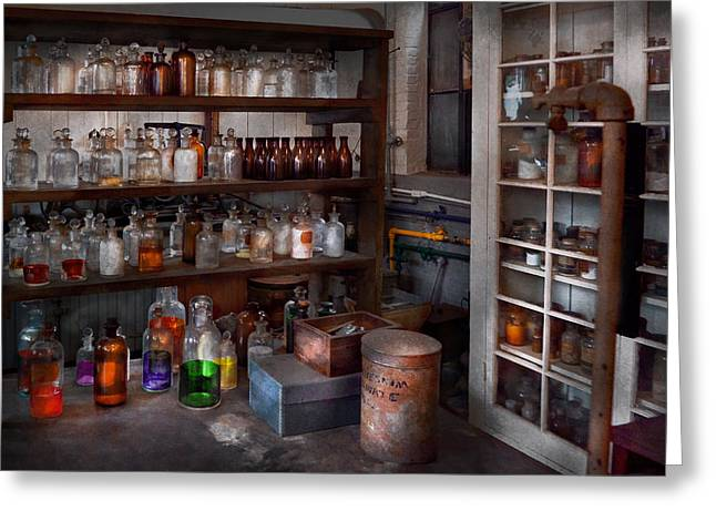 Science - Chemist - The Secret Of Life Greeting Card by Mike Savad