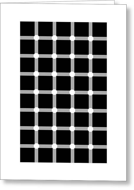 Scintillating Grid Illusion Greeting Card by