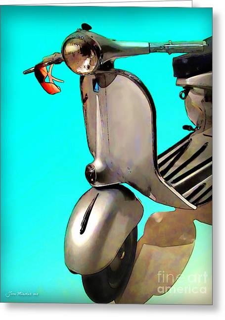 Scooter Greeting Card by Joan  Minchak