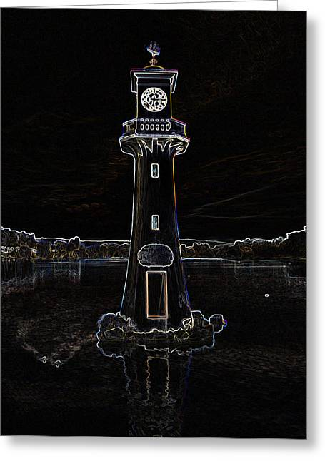 Greeting Card featuring the photograph Scott Memorial Roath Park Cardiff 2 by Steve Purnell