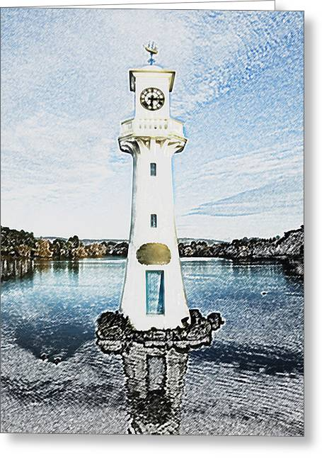 Greeting Card featuring the photograph Scott Memorial Roath Park Cardiff 3 by Steve Purnell