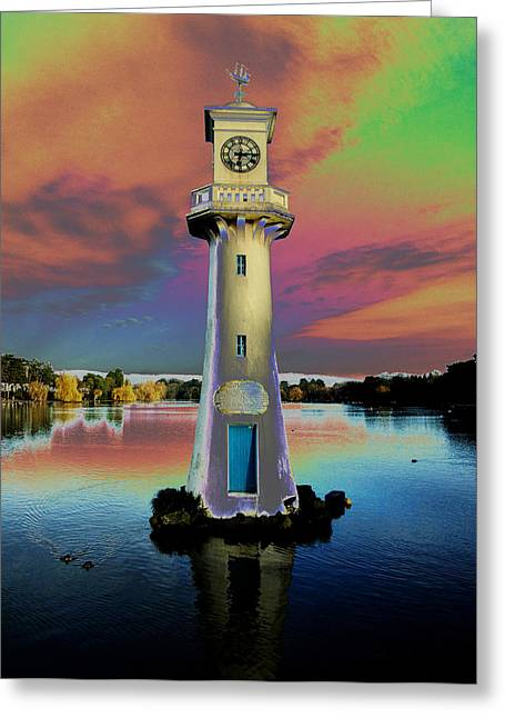 Greeting Card featuring the photograph Scott Memorial Roath Park Cardiff 4 by Steve Purnell