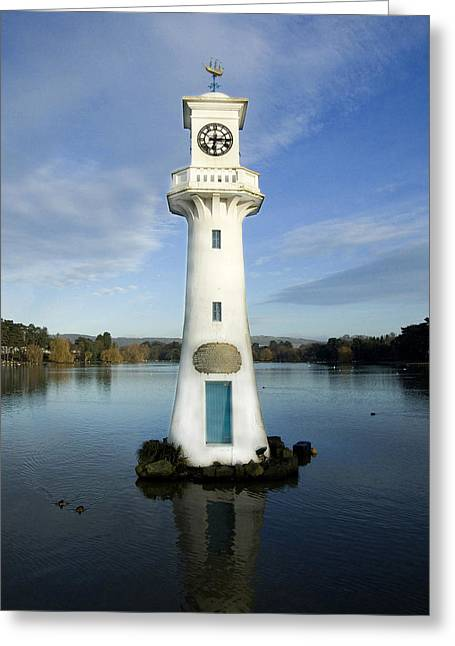 Greeting Card featuring the photograph Scott Memorial Roath Park Cardiff by Steve Purnell
