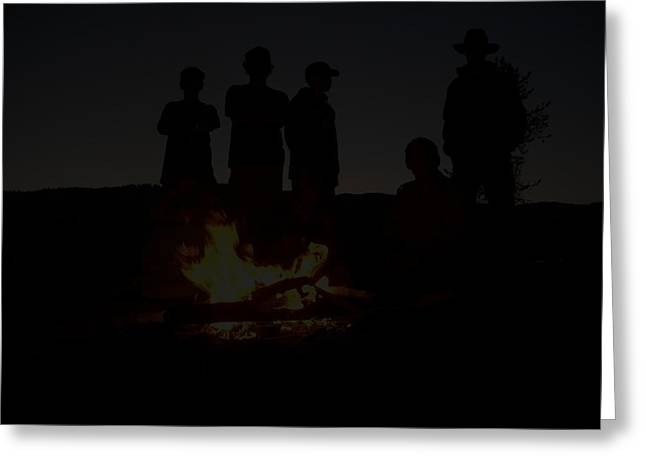 Scout Camp Fire Greeting Card by LaDonna Vinson