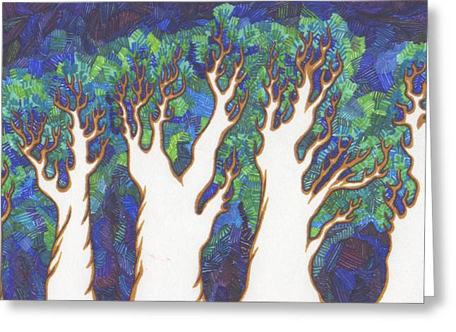 Scratch Trees Greeting Card by James Davidson
