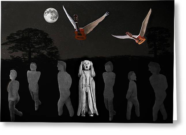 Scream I Love Rock And Roll Greeting Card by Eric Kempson
