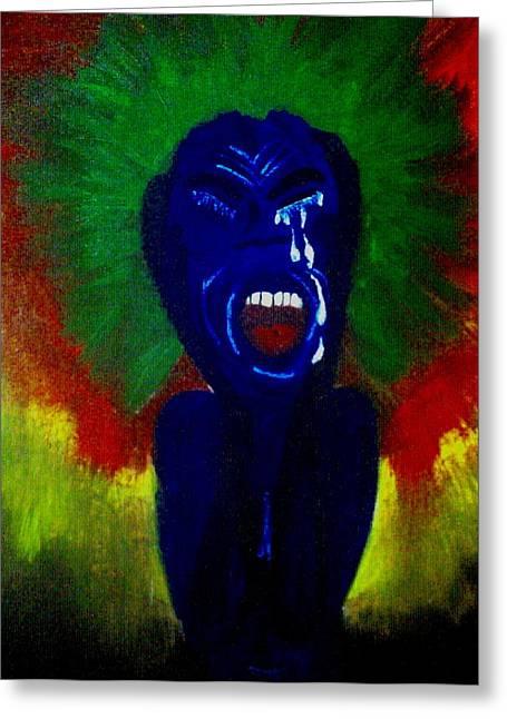 Scream Greeting Card by Violette L Meier