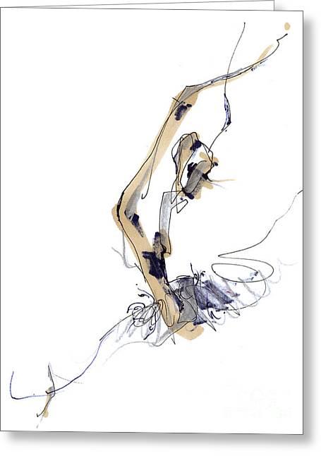 Sculpting Ballet Greeting Card by Lousine Hogtanian