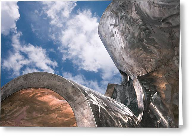 Sculpture And Sky Greeting Card by Tom Gort