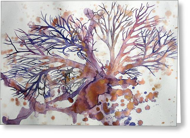 Sea Fan Greeting Card by Kyle Ethan Fischer