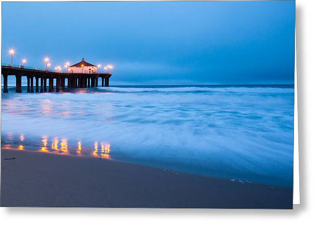 Sea Foam At Manhattan Beach  Greeting Card