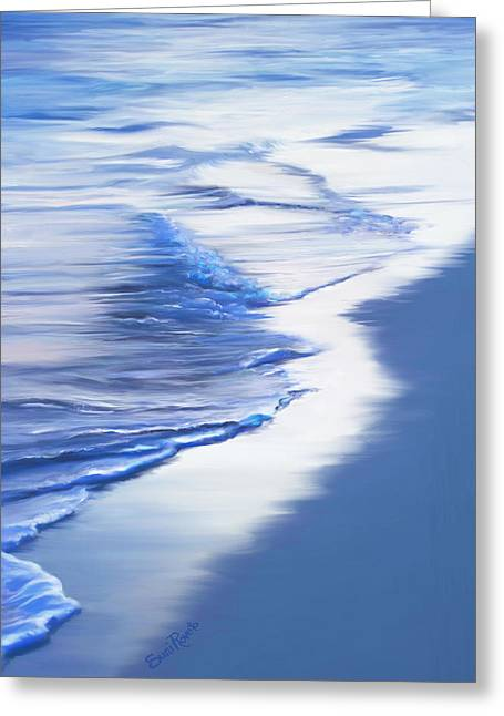 Sea Foam Greeting Card by Suni Roveto
