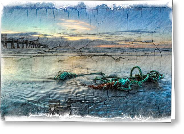 Sea Knot Greeting Card by Debra and Dave Vanderlaan