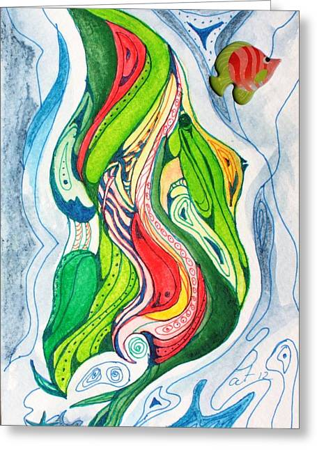 Sea Life Greeting Card by Pat Purdy