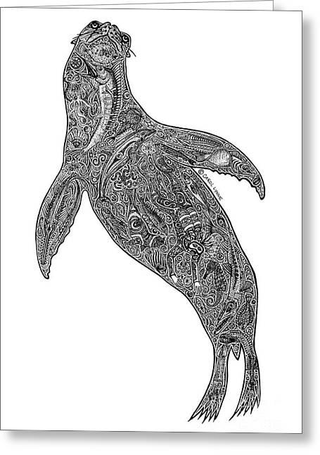 Sea Lion Greeting Card by Carol Lynne