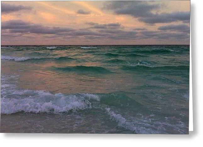 #sea #ocean #beach #waves #water Greeting Card