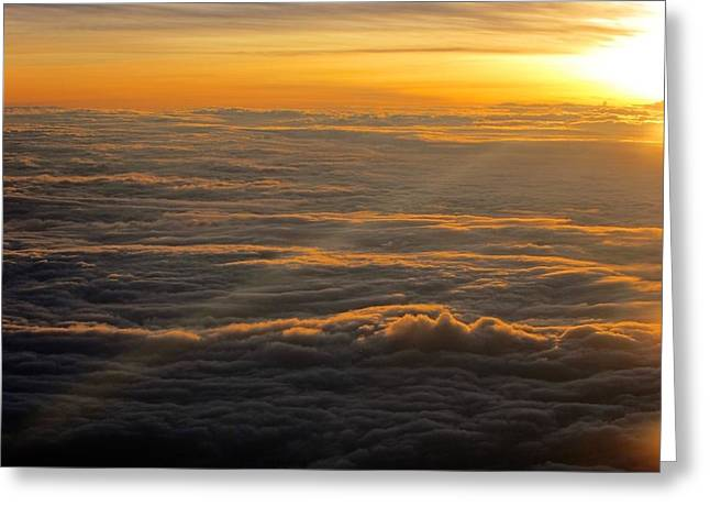 Sea Of Clouds Greeting Card by Jyotsna Chandra