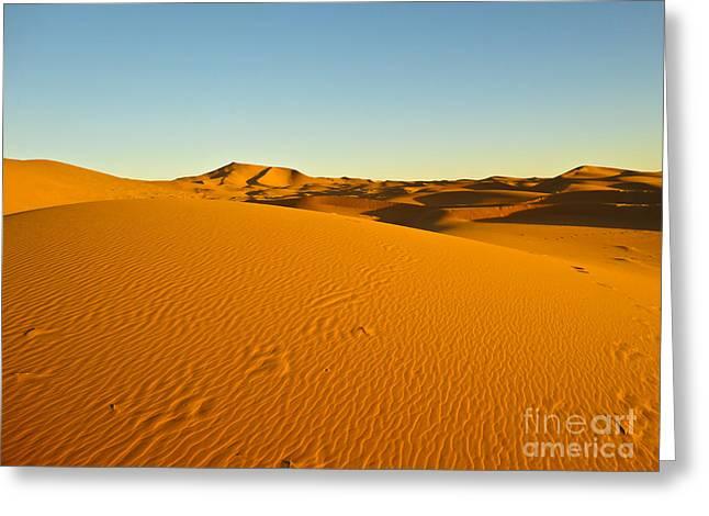 Sea Of Sand Greeting Card by Nabucodonosor Perez