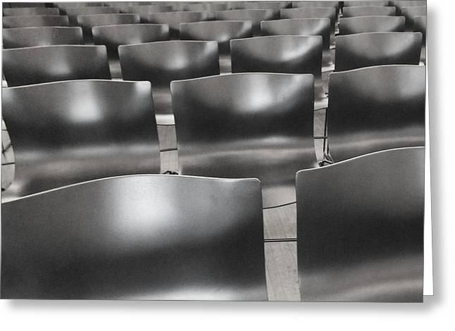 Sea Of Seats I Greeting Card by Anna Villarreal Garbis