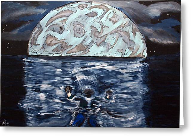 Greeting Card featuring the painting Sea Of Troubles by Lisa Brandel